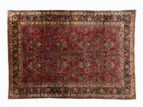 Persian Sarouk Rug With A Botanical Pattern, Early 20th