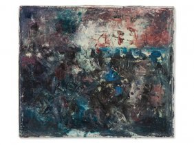 Karl Anton Wolf (1908-1989), Oil Painting, Abstract,