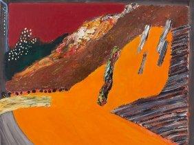 Evgeni Dybsky, Painting 'fairy Tale, Orange', Russia,