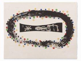 Joan Miró, Color Lithograph, 'nebula', France, 1958