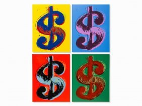 After Andy Warhol (1928-1987), 4 Serigraphs, Dollar,