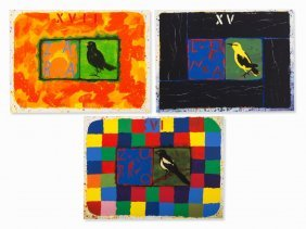 Joe Tilson, Conjunctions, 3 Serigraphs In Colors, 2001
