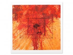 Hermann Nitsch, Serigraph, Black Signs, Austria, 2007
