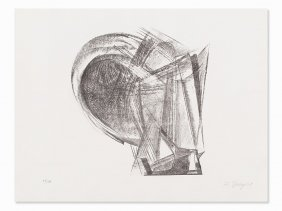 Rudolf Belling, Composition, Lithograph, 1967