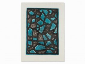 Mark Tobey, Apparuit, Lithograph In Colors, 1971