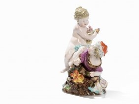 Meissen, 'allegory - Spring And Winter' Late 19th C.