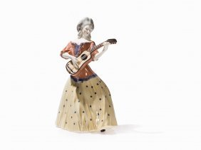 Hermann Hubatsch, Porcelain Guitar Player, Kpm-berlin,