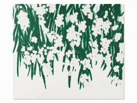 Donald Sultan, Mimosa, Serigraph With Flocking, 2015