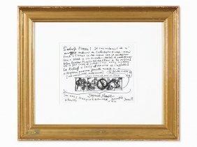 Jean Tinguely, Requiem Pour Une Feuille Morte, Drawing,