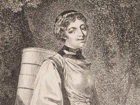 Franz Nikolaus König, Women From Oberhasli, Radierung,