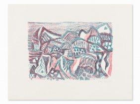 Eduard Bargheer, Vulkanische Landschaft,