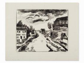 Maurice De Vlaminck, Verville, Lithograph, 1921
