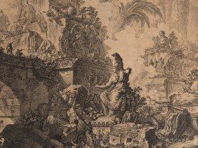 Giovanni Piranesi, Frontispiece With Minerva, Etching,