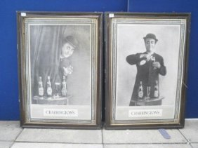 A Pair Of Charrington's 'George Roby' Black And Whit