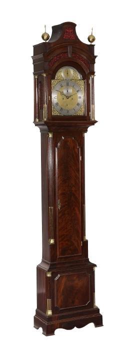 A George Iii Mahogany Eight-day Longcase Clock Gravell