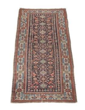 A Kuba Carpet, Approximately 288cm X 107cm Provenance