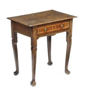 A Queen Anne Oak Side Table, Circa 1710, Rectangul
