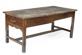 An Oak Refectory Table,  Late 18th/early 19th Cent