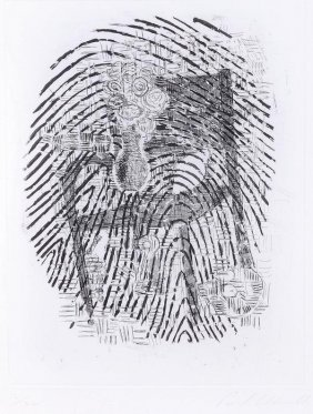Paul Coldwell (b 1958) Finger Print Etching, With