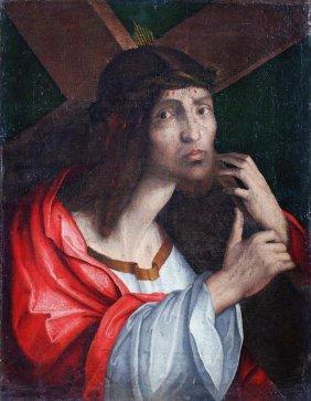 Venetian School (17th Century) Christ Carrying The