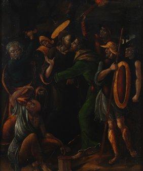 Spanish School (16th Century) The Betrayal Of Chri