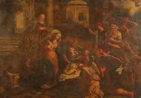 Venetian School (17th Century) The Adoration Of Th