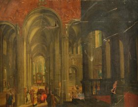 Dutch School (18th Century) Christ And Other Figur