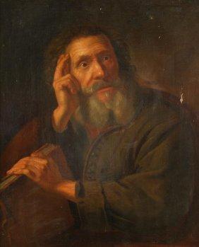 Follower Of Philippe De Champaigne A Philosopher O