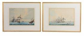 Thomas Buttersworth (1768-1842) - Royal Navy Warships