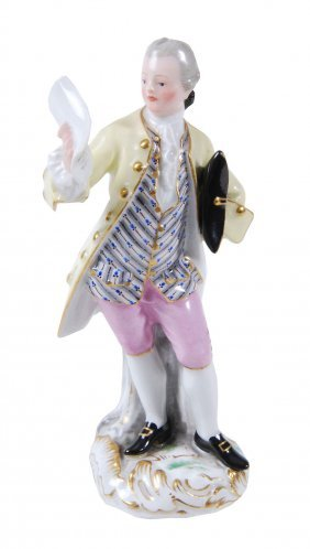 A Meissen Figure Of A Man, Mid 19th Century