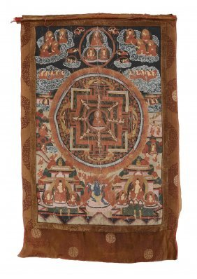 A Tibetan Thangka, Late 19th Or 20th Century, The Image
