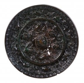 A Chinese Bronze Mirror , Tang Dynasty Or Later, 13.3cm
