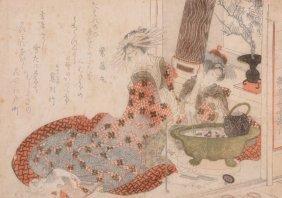 Katsushika Hokusai & Others - Group Of Six Woodblock