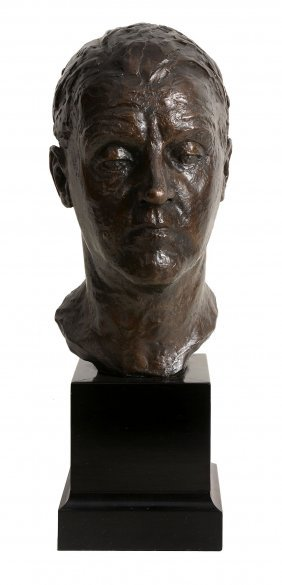 Clare Sheridan , A Bronze Bust Of A Man, Brown