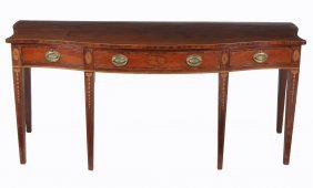 A George Iii Mahogany And Crossbanded Serving Table ,