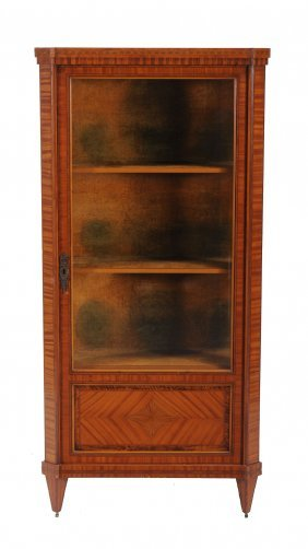 A Dutch Satinwood Display Cabinet , Late 19th/early