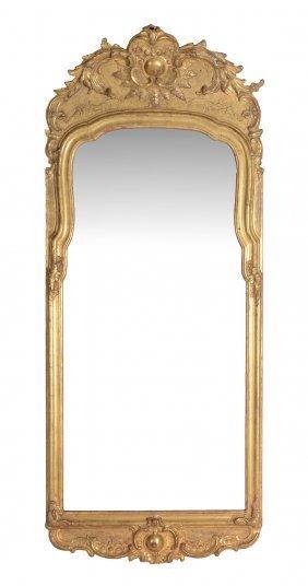 A George Iii Giltwood Wall Mirror, Circa 1800, 145cm