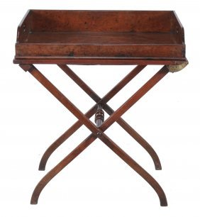 A George Iii Mahogany Butler's Tray , Circa 1790