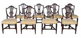 A Set Of Six George Iii Mahogany Dining Chairs , Circa