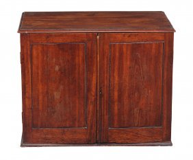 A George Iii Mahogany Collector's Cabinet, Circa 1780,