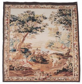 An Woven Tapestry, In Aubusson Style, Approximately 214