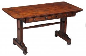 A William Iv Rosewood Library Table , Circa 1830, With
