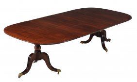 A Mahogany Dining Table In George Iii Style , 20th