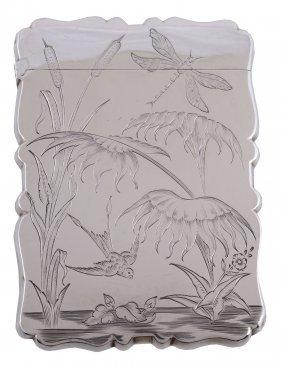 A Victorian Silver Shaped Rectangular Card Case,