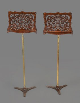 A Pair Of Victorian Music Stands, Circa 1870