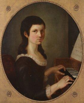 German School (19th Century) - Portrait Of Girl,