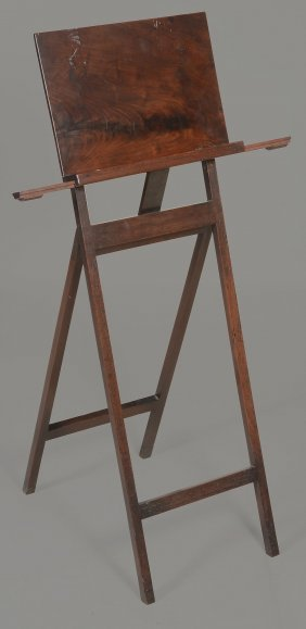 A Mahogany Folding Music Stand , Late 18th Century, Of