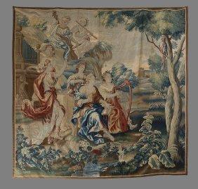 A Flemish Verdure Tapestry, 18th Century, Depicting