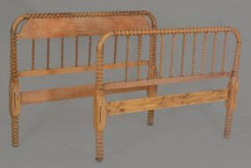 A French Double Bed Head And Foot Board , Late