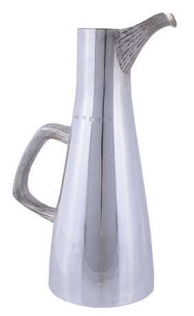 A Silver Tall Tapered Water Jug By Christopher